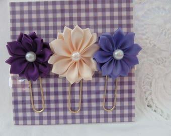 Silk Ribbon Flower Planner Paperclip