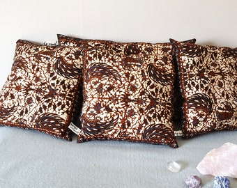 Set of upcycled batik pillows (4 pieces)