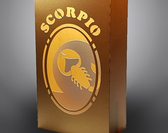 Scorpio Zodiac box card with envelope template