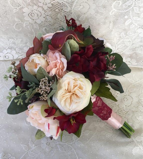 Wedding Flowers Names: Wedding BouquetBridal BouquetBurgundy And Blush Wedding