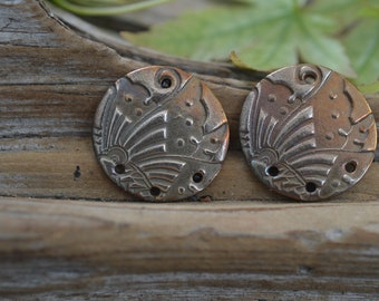 Japanese Crests-  Handmade White Copper Components