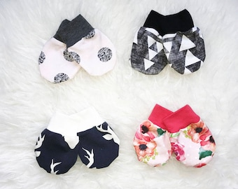 Baby Mittens No Scratch Mittens Matching Mittens Add to Your Outfit Baby Mitts Newborn Mittens