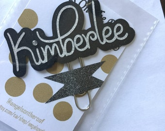 Personalized name/word paper clip