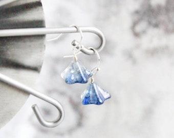navy blue earrings chandelier jewelry gift for her drop earrings sterling silver jewelry dark blue gift girlfriend valentines gift girl пя54