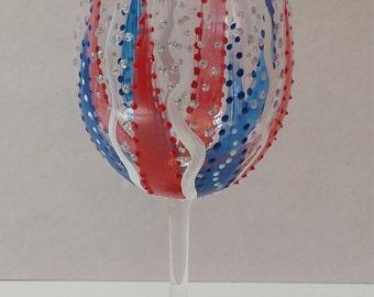 Red White Blue Wine Glass. Patriotic Wine glass. 4th of July Wine Glass. Fourth of July Wine Glass. July 4th.