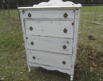 Antique Chest Of Drawers, Shabby Chic Dresser, Shabby Chic Furniture, White  Dresser,