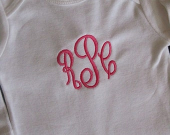 Personalized Simple Monogram Shirt bodysuit