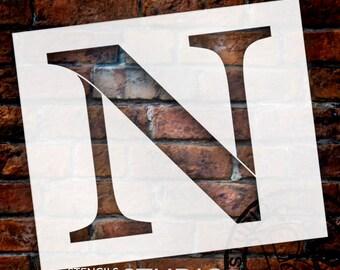 N -Monogram Letter Stencil - Select Size - STCL1727 - by StudioR12