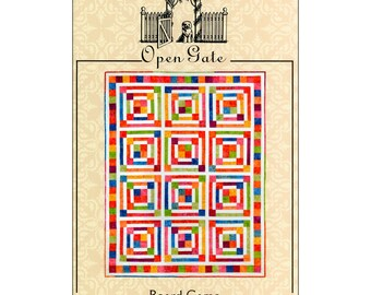 """Pattern """"Board Game Quilt"""" by Open Gate #OG0108 Paper Pattern"""