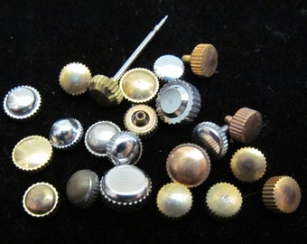 Vial Watch Parts crowns Assemblage Industrial Altered Art Steampunk Charms IV 38