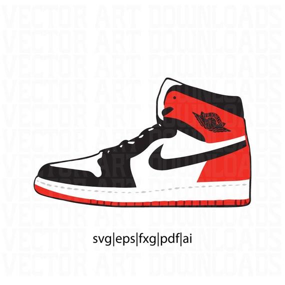 Air Jordan 1 noir orteil inspiré vectoriels en SVG, PDF, EPS,  téléchargement format ai