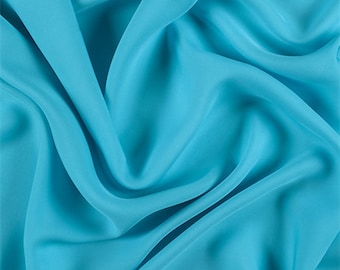 Turquoise Silk Double Georgette, Fabric By The Yard
