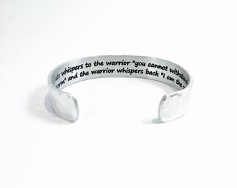 "Encouragement - Fate whispers to the warrior ""you cannot withstand the storm"" and the warrior whispers back I am the storm ~ 1/2"""