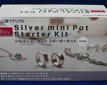 PMC Silver Art Clay Ring & Pendant Making Tool Set with Jewelry Kiln Kit and DVD