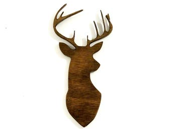 Stag head, wall decor, hanging wall art, wall decor ideas,Deer head,Stag Head Silhouette
