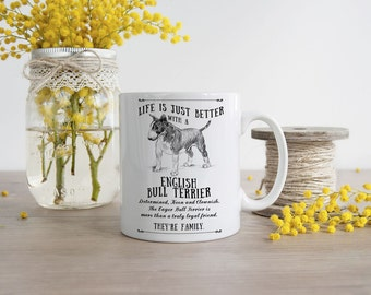 English Bull Terrier Mug ~ Perfect Gift can be personalised