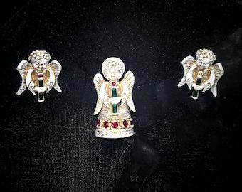 Angel Pin & Earrings