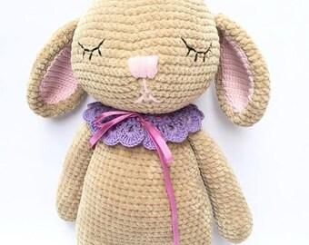 Crochet amigurumi doll Fluffy Bunny