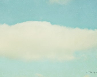 blue, white, clouds, sky, fine art photography