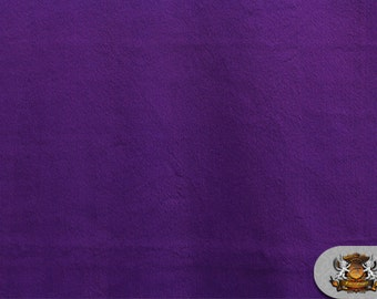 "Minky Cuddle ULTRA SOLID Purple Fabric / 58"" Wide / Sold By the Yard"