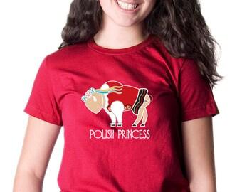 Ladies Polish T-shirt Buffalo Polish Princess Cute