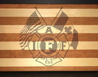 IAFF 22 X 18 X 1.5 Jumbo Cutting Board.
