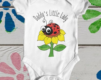 Daddy's Little Lady baby bodysuit | cute baby clothes | funny baby bodysuit | baby shower gift | newborn baby clothes | going home outfit