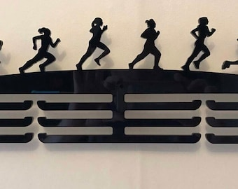 Female runner acrylic medal holder