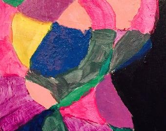 Color-Acrylic & oils on canvas