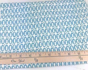 Blue Ovals, Pezzy Prints, American Jane, Moda, Sandy Klop, 32 Inches, **PRE-WASHED**