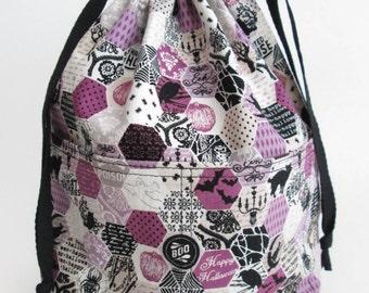 Small Reversible Drawstring Project Bag