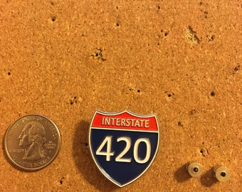Interstate 420 Highway Sign Pin
