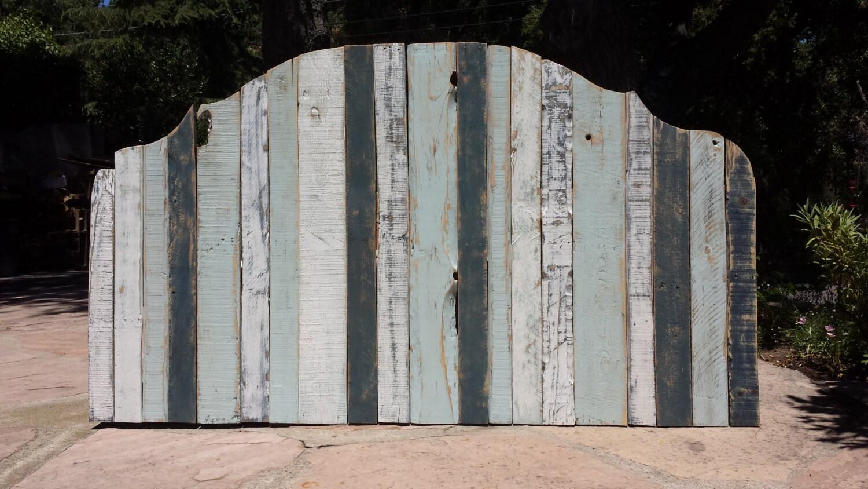 Standard or California King pallet wood headboard Distressed