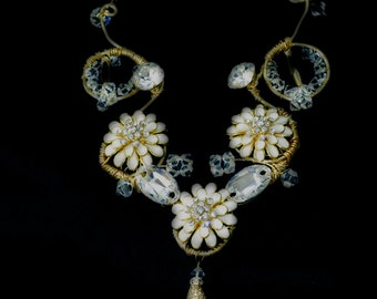 Flower Fantasy Bridal Necklace