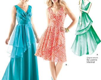OUT of PRINT Simplicity Pattern 1689 Misses' Dresses Leanne Marshall Collection