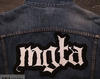 Big Back  Patch Mgla logo Black Metal.