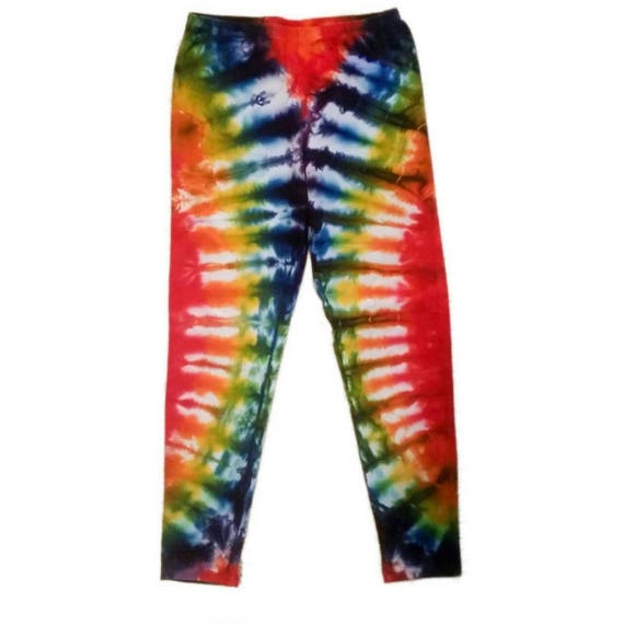 Girls Rainbow Tie Dye Leggings/Youth Leggings/Gifts for Kids/Great Stocking Stuffer/Eco-Friendly Dying