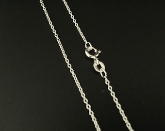 Light Cable Silver Chain // 925 Sterling Silver // 1mm Gage // Thin Pendant Chain // Assembled in Our CA Studio