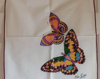 Vintage Butterflies Napkins-Designer Ken Scott