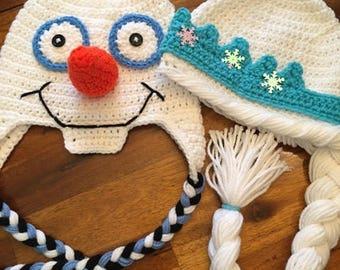 Crochet Elsa or Olaf from Frozen