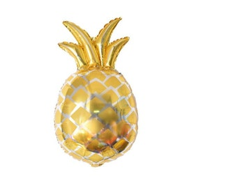 Gold large pineapple foil balloon
