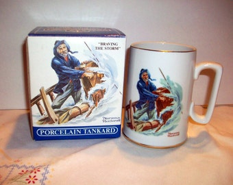 "Norman Rockwell ""Braving the Storm"" Mug  bx4      82487956"