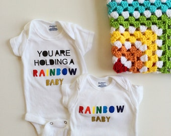 Rainbow Baby Onesies. Rainbow Baby. Rainbow Baby Shirt. For This Child I Have Prayed. Rainbow Baby Present. Rainbow Baby Gift. Miracle Baby.
