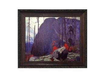 Algoma Hill by Lawrence Hill 8 x 10 Giclee Pearl Canvas Framed in Olive Wood Frame