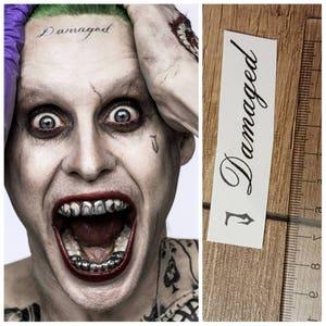 Joker suicide squad face temporary tattoo J Damaged movie