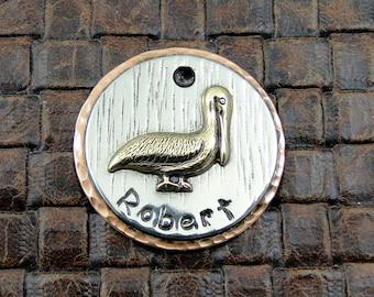 Dog ID Tag,Pelican,Custom Dog ID Tag,Pet Collar Tag,Personalized Dog ID Tag, Dog Tag for Dogs
