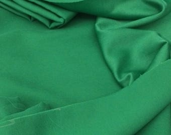 Fabrics silky satin with large green 155