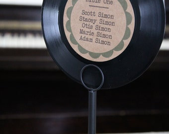 """7"""" Vinyl Record Table Seating Chart"""