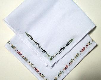 Embroidered Handkerchiefs by Amanda Gibson