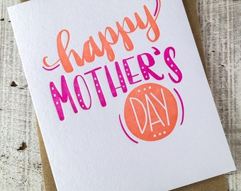 Mother's Day Dots Letterpress Card